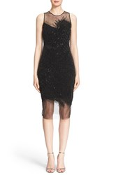 Women's Pamella Roland Sequin Grid Cocktail Dress