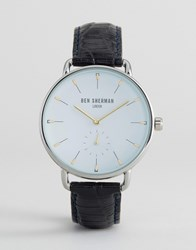 Ben Sherman Black Leather Strap Watch Black