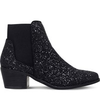 Miss Kg Spider Metallic Glitter Chelsea Boots Blk Other