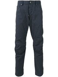 G Star Raw Research Striped Trousers Blue