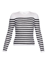 Red Valentino Striped Wool And Cashmere Blend Sweater