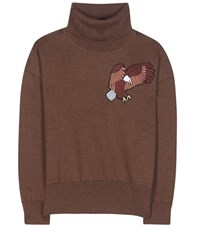 Each X Other Wool Sweater With Embroidered Applique Brown