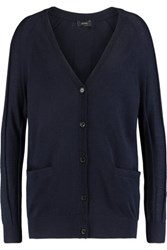 Joseph Merino Wool Cardigan Midnight Blue
