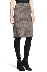 Women's St. John Collection Sparkle Plisse Knit Pencil Skirt