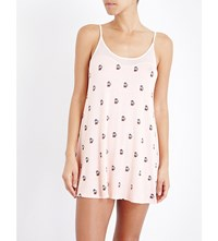 Wildfox Couture French Press Stretch Jersey Slip Dress Multi