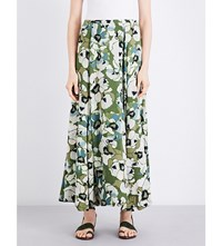 Free People Hot Tropics Woven Maxi Skirt Moss