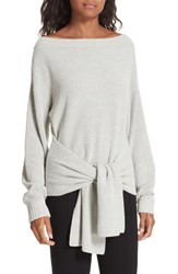 Brochu Walker Runa Front Tie Sweater Salt Pepper