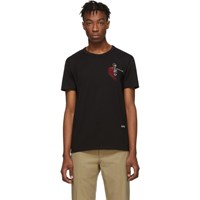 Alexander Mcqueen Black Mini Skeleton T Shirt