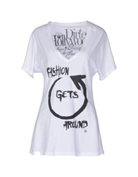 Dirtee Hollywood Short Sleeve T Shirts White