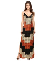 Free People Deco Dreams Embroidered Maxi Black Combo Women's Dress