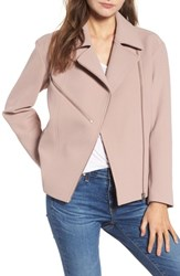 Trouve 'S Bonded Moto Jacket Pink Fawn