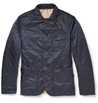 Burberry Reversible Lightweight Quilted Jacket Blue