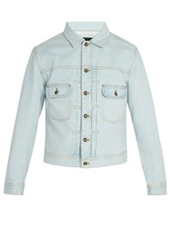 Saturdays Surf Nyc Ray Bleached Denim Jacket Light Blue