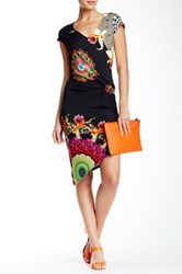 Desigual Printed Asymmetrical Dress