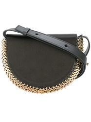 Paco Rabanne Chain Trimmed Cross Body Bag Black