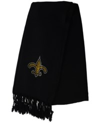 Little Earth New Orleans Saints Pashi Fan Scarf Black
