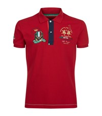 La Martina Slim Fit Pique Polo Shirt Male Red