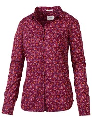 Fat Face Classic Fit Antonia Print Shirt Rosewood