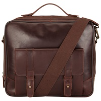 John Lewis And Co. Bifield Leather Briefcase Brown