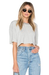 Lovers Friends Elora Crop Sweatshirt Gray