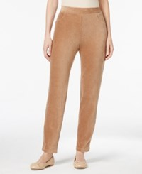 Alfred Dunner Corduroy Pull On Pants Fawn