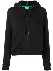Kenzo Tiger Embroidered Zip Front Hoodie Black