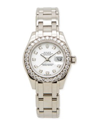Classic Rolex Ladies' Pearlmaster Diamond Watch Nm Watch Collection By Crown And Caliber