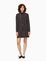 Kate Spade Ditzy Silk Swing Dress Black