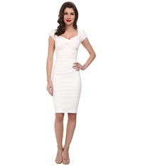 Stop Staring Billionaire Elegant Twist Front Dress Ivory Women's Dress White