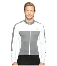 Pearl Izumi Elite Escape Long Sleeve Jersey White Smoked Men's Clothing