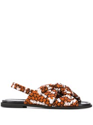 Christian Wijnants Avia Animal Print Sandals Orange