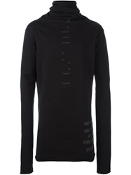 Unravel 'Terry' High Neck Jumper Black