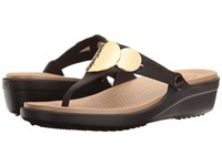 Crocs Sanrah Embellished Wedge Flip Espresso Gold Women's Wedge Shoes Brown