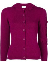 Barrie Cashmere Cardigan Pink And Purple