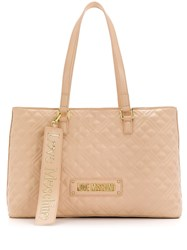 Love Moschino Large Quilted Logo Tote 60