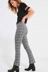 Urban Outfitters Uo High Rise Plaid Kick Flare Pant Black Multi