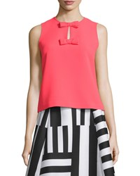 Kate Spade Sleeveless Two Bow Top Women's Geranium
