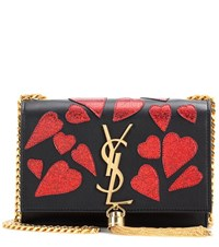 Saint Laurent Classic Small Kate Monogram Embellished Leather Shoulder Bag Black
