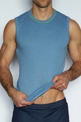 C In2 Crew Neck Strong Arm Tank Blue