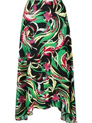 La Doublej Windy Flowers Skirt Green