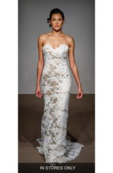 Anna Maier Couture Women's Collette Strapless Silk And French Lace Gown
