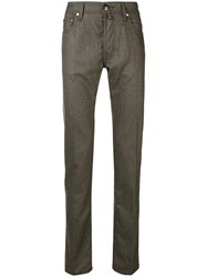 Jacob Cohen Straight Leg Trousers Grey