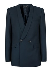 Topman Green Teal Double Breasted Skinny Fit Suit Jacket