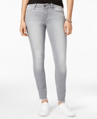 Articles Of Society Sarah Frayed Skinny Jeans Silver