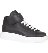 Alexander Mcqueen Wedge High Top Trainers Black