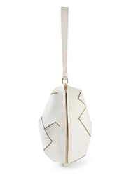 Moschino Cheap And Chic Oval Clutch White