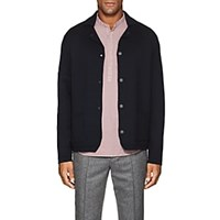 Barneys New York Wool Jacket Style Cardigan Navy