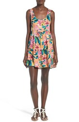 Women's Rip Curl 'Paradiso' Cover Up Dress Orange Popsicle