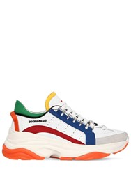 Dsquared 60Mm Bumpy 551 Leather Sneakers White Multi