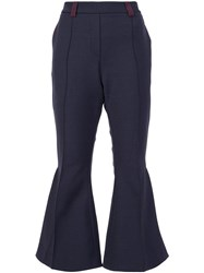 Ellery Flared Cropped Trousers Blue